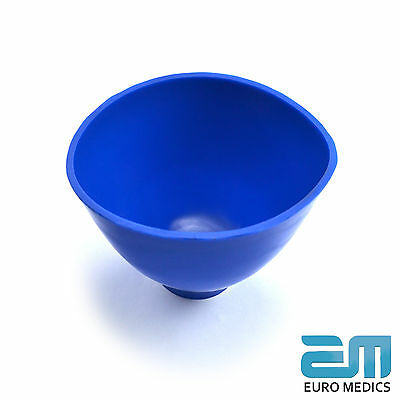 Set Of 2 Dental Blue Mixing Alginate Bowl Plaster Spatula Modelling Surgical Lab