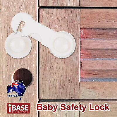 16x Baby Safety Lock Child Adhesive Kid Drawer Door Cupboard Cabinet Cute White 3