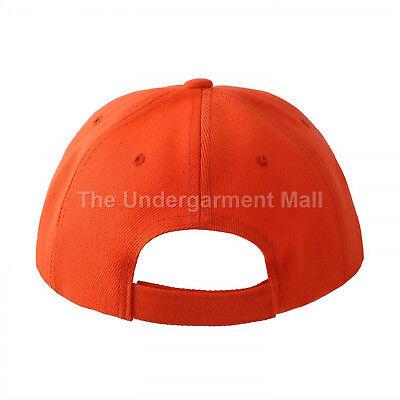 Baseball Cap Plain Kids Girls Strapback Solid Hats Polo Style Hook-N-Loop New 2