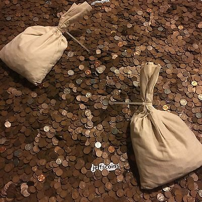 ✯1Lb Pound Unsearched Wheat Cents Lincoln Pennies✯Estate Sale Coins Lot✯1909-58✯ 6