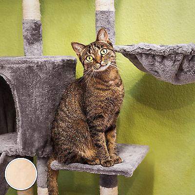 Arbre à chat griffoir grattoir jouet animaux douillet et peluché beige 2