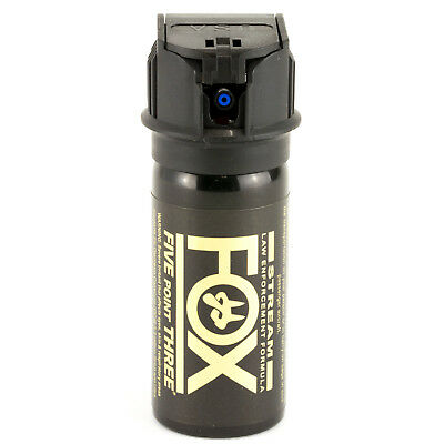FOX LABS 5.3 Million SHU Tactical HOT Police Pepper Spray Stream Flip-Top 1.5oz 2