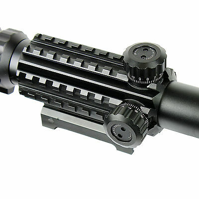 4-12X50 EG Tactical Rifle Scope with Holographic 4 Reticle Sight & Red Laser JG8 5