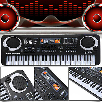 61 Keys Electronic Music Keyboard Organ Piano Set With Mini Microphone Kids Gift 8