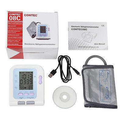 Arm Blood pressure monitor CONTEC08C Electronic Sphygmomanometer Software NIBP 2