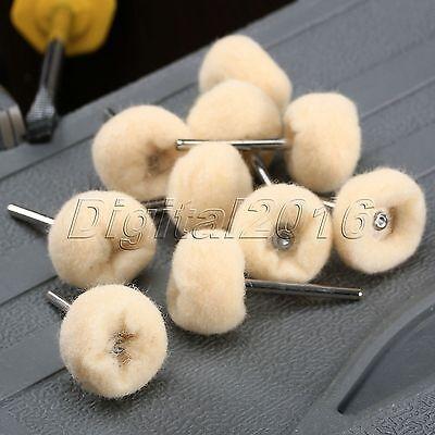 10pcs 25mm Polishing Buffing Wool Wheel For Dremel Grinder Rotary Tool (69) 2