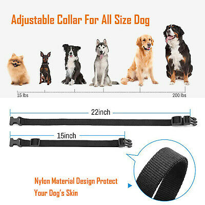 Dog Shock Training Collar Rechargeable LCD Remote Control Waterproof 330 Yards 10