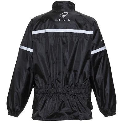 Black Spectre Waterproof Motorcycle Motorbike Rain Wear Over Jacket Bike Cycle