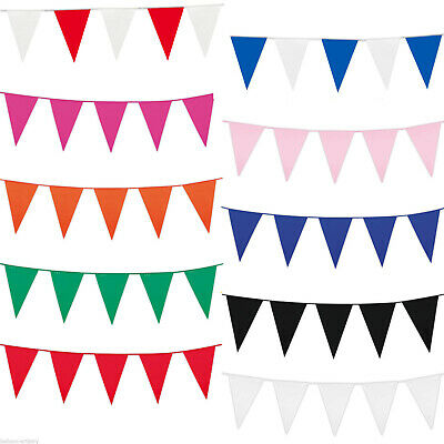 10m 20 Flags Bunting Blue Rose Gold Silver White Red Pink Purple Green 32 Feet 12