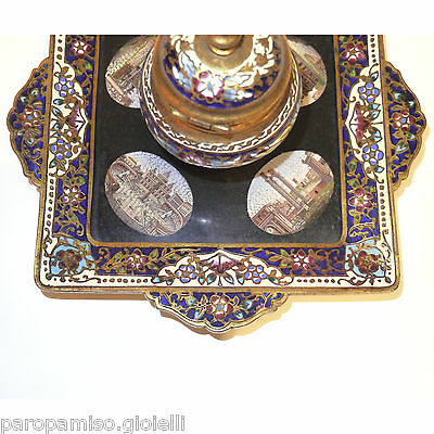 French Inkpot, 2nd half of 19th c., with Roman Micro Mosaics     (0529) 5