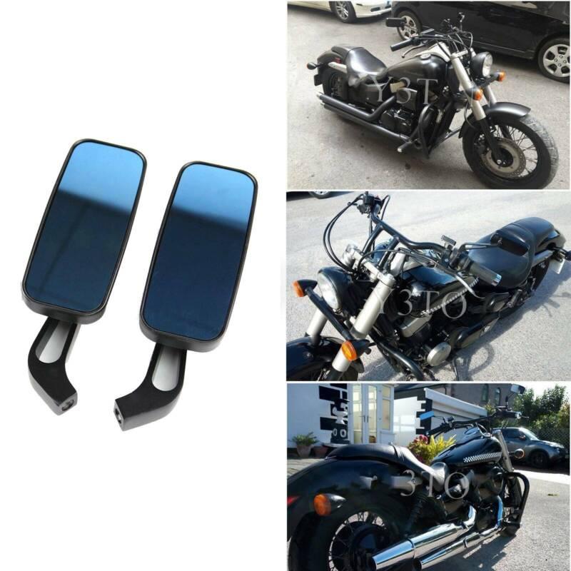 M8 M10 Motorrad spiegel mit Packung Schraube Chrom Rechteck moto R/ückspiegel f/ür Bobber ATV Street Bike Cruiser Chopper