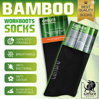 7 Pairs Bamboo Work Socks 88% Bamboo Socks Thick Work Mens Heavy Duty Cushion 2