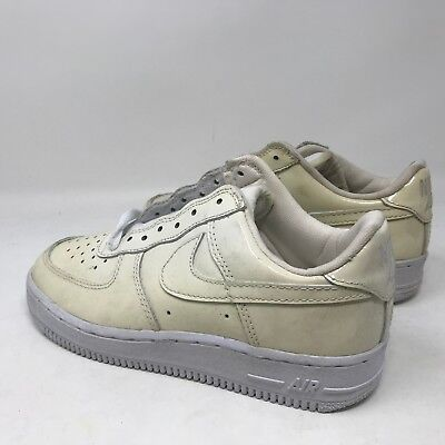 22d4366ce711f ... New Vintage Kid Nike Air Force 1 Low Patent Leather White 653022-111  Size 3Y