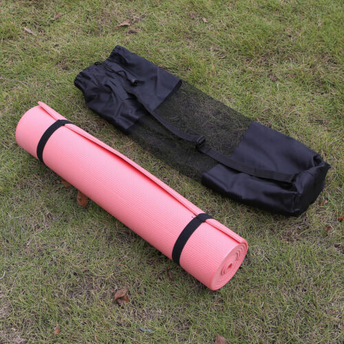 Travel Portable Yoga Mat Carry Bag Mesh Adjustable Strap Nylon Carrier New 4