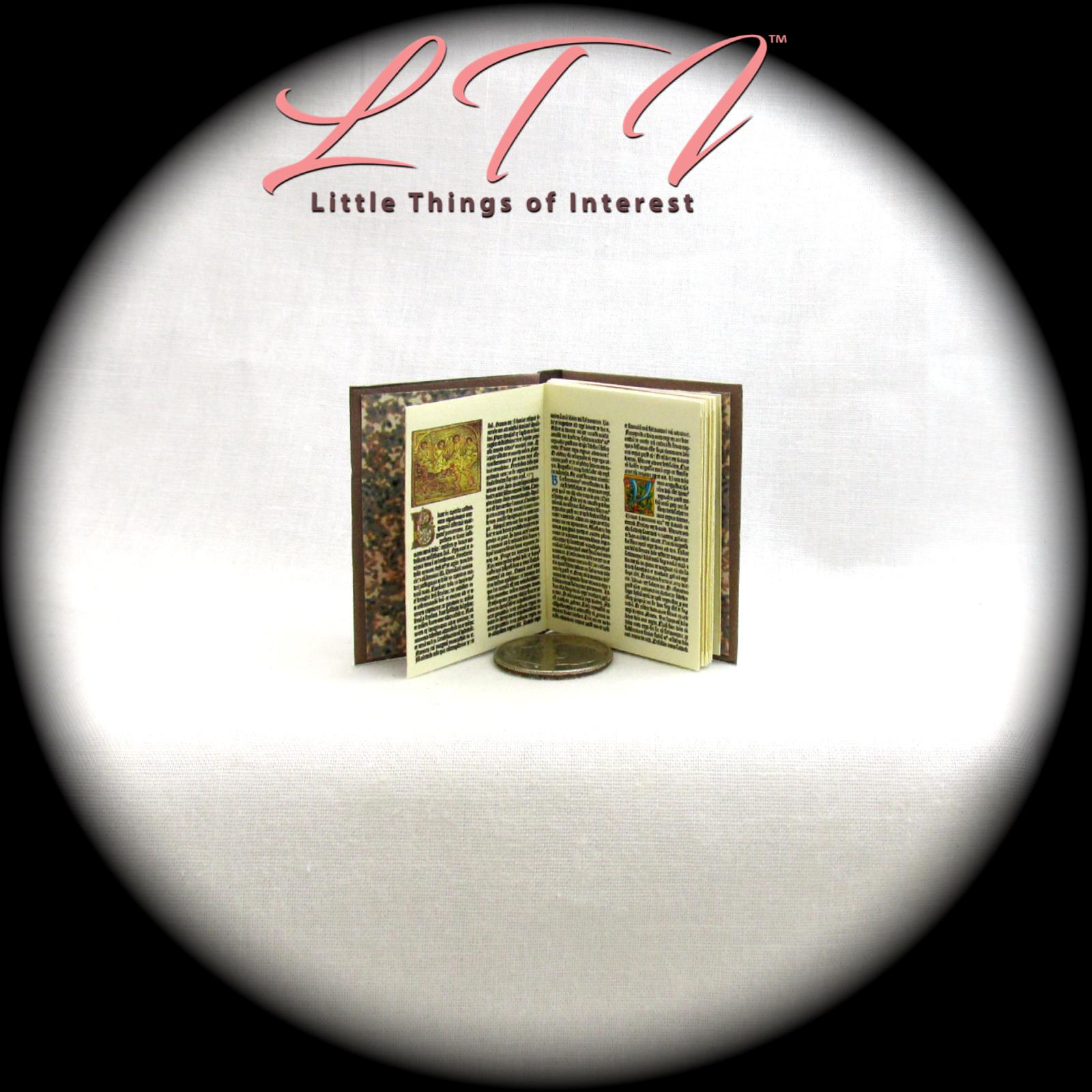 1:6 Scale OCCIDO LUMEN Book Illustrated Readable Illuminated Medieval Manuscript 7