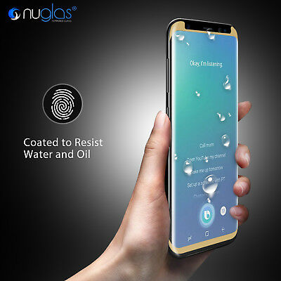 NUGLAS Samsung S10 S9 S8 Plus Note 9 Tempered Glass Full Cover Screen Protector 3