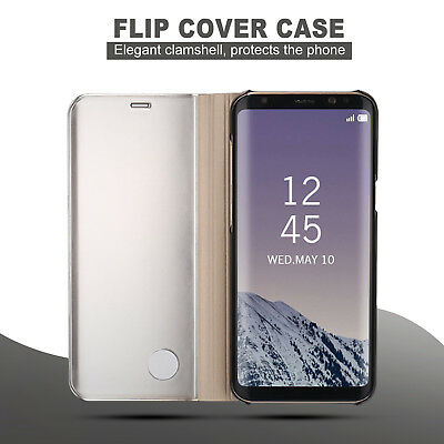 Galaxy S9 S8 Plus Note 9 S7 A8 J5 J2 Pro J8 Cover Mirror Flip Case for Samsung 3
