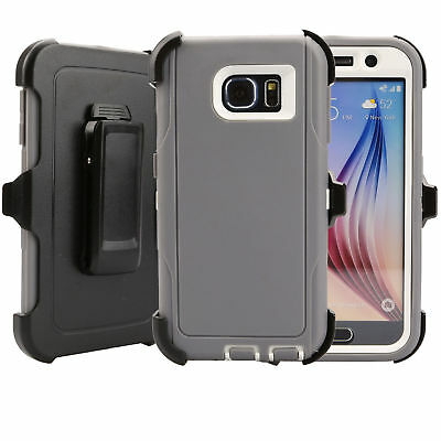 For Samsung Galaxy S6 Case Cover Rugged With (Belt Clip Fits Otterbox Defender) 7
