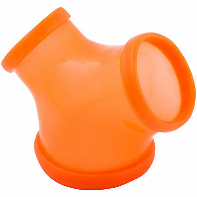 Frei Haus Toylie Latex Penishülle Gil Neon-Orange ohne Schaft Latexkleidung 4