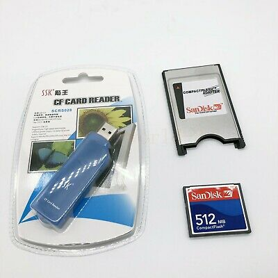 512MB Compact Flash Memory Card CF Card +PCMCIA Adapter+SSK USB2.0 reader FANUC 8