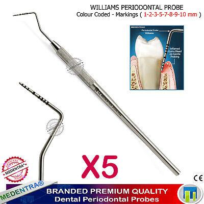 Medentra Diagnostic Periodontal Probes for Pockets Measurement Williams Probe X5 2