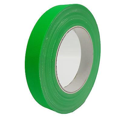 4 Farben Neon Gaffa Tape matt 19mm x 25m Gewebeband UV-Fluoreszierend Klebeband