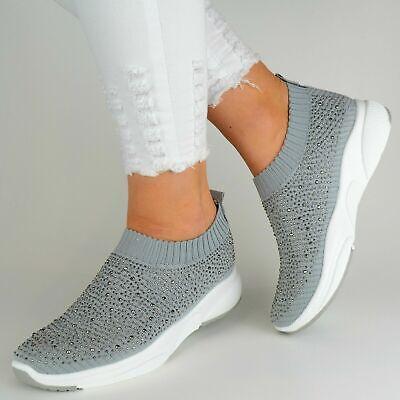 Damen Schuhe Sneaker Silber Grau Glitzer Low Turnschuhe Sportschuhe Freizeit Neu