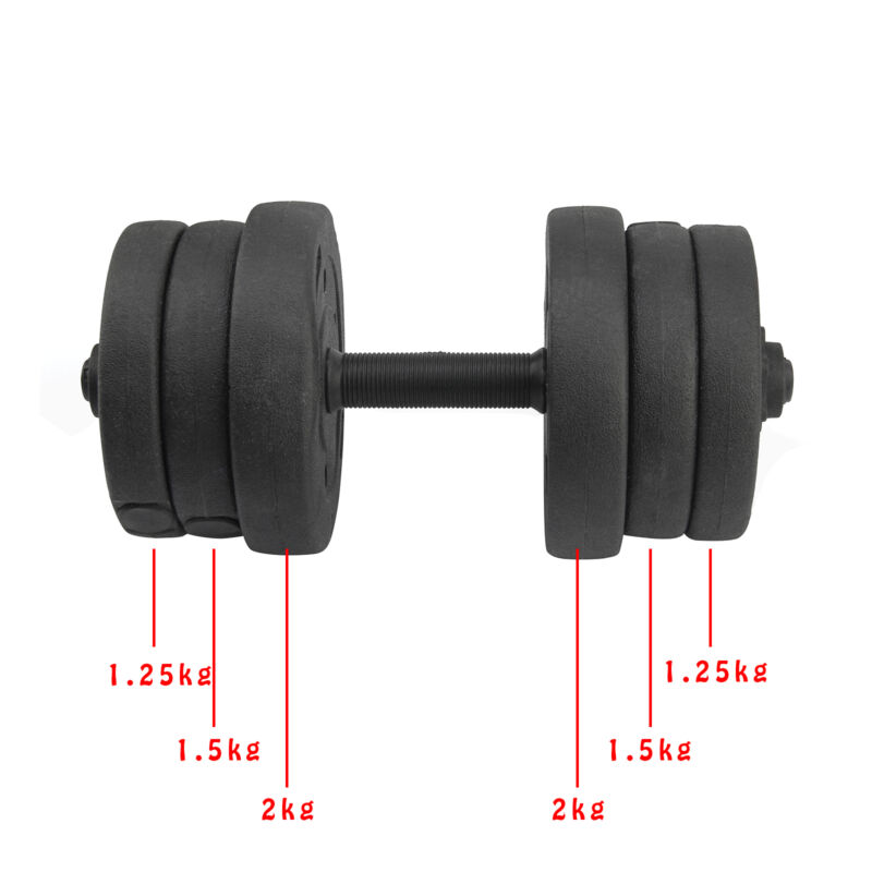 20KG Weights Dumbbell Set Gym Workout Fitness Biceps Home Sport Training 3