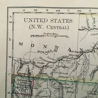 1897 Map Of United States, N.w. And Central Areas 2