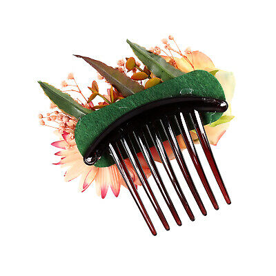 Women's Flower Hair Comb Slide Clips Pins Wedding Bridal Hair Accessories Party 11