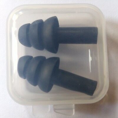 Soft Silicone Ear Plugs Different Colours Work Sleep Study Travel Box Reusable