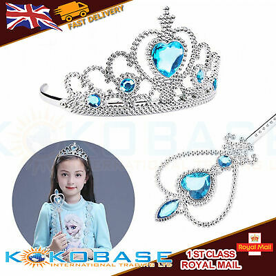 Vicloon Ice Princess Elsa Accessories Set  Tiara Crown and Magic Wand Girls Gift 4