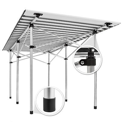 Table de camping de jardin pliable pliante en aluminium portable XXL 140x70x70cm 5