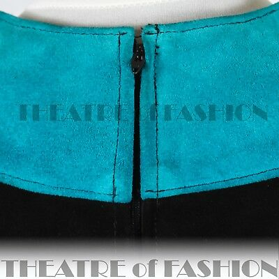DRESS 60s SUEDE LEATHER VINTAGE OUTSTANDING ART ICONIC RARE LIKE COURRÈGES GOGO 11