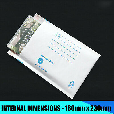 Bubble Padded White Mailer Envelope Bag 100x180 160x230 215x280 Printed #01 #02 8