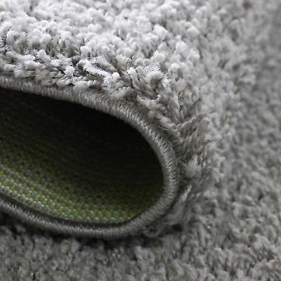 Small X Large Size Grey Thick Plain Soft Shaggy Non Shed Rug Modern Carpet Rugs 5