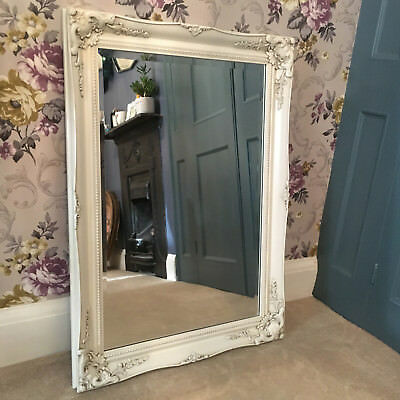 Vintage Style Beautiful 3FT FRENCH Ornate MIRROR Ivory Gold Black White Silver 3