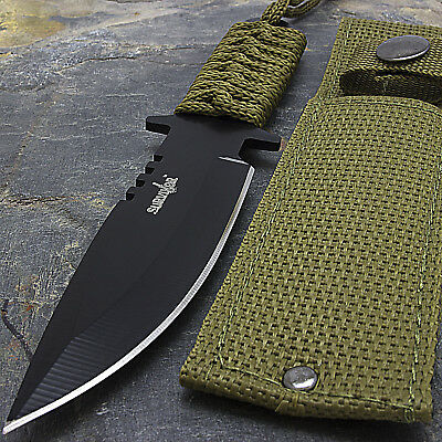 """7.5"""" TACTICAL COMBAT HUNTING FIXED BLADE BOWIE KNIFE Throwing Survival Military 2"""