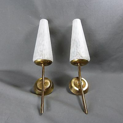 French Vintage Wall Light authentic retro c.1950-1960 Great Style Glass Paste 2