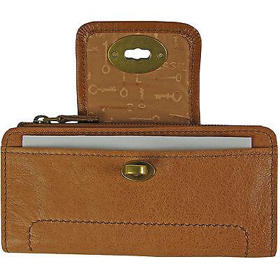 9a5bccb6da712 ... FOSSIL Leder Geldbörse Portemonnaie Geldbeutel MASON CLUTCH Damen Börse  Camel 3