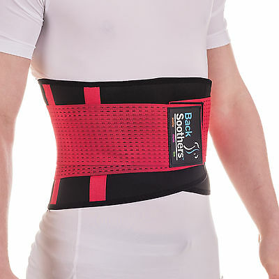 BackSoothers® BackPro Massaging Lumbar Lower Neoprene Back Support Brace Belt 4