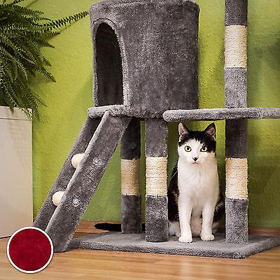 Arbre à chat griffoir grattoir jouet animaux douillet et peluché bordeaux 5