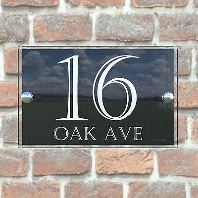 house number plaque plaques sign signs rustic contemporary 4
