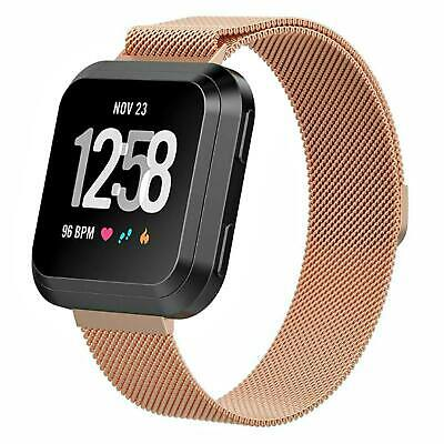 For Fitbit Versa Milanese Watch Band Strap Wrist Magnetic Stainless Steel Loop 4