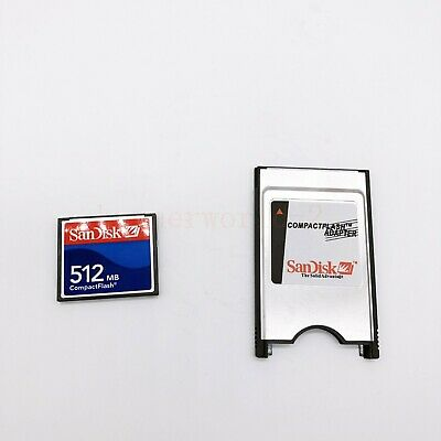 512MB Compact Flash Memory Card CF Card +PCMCIA Adapter+SSK USB2.0 reader FANUC 5