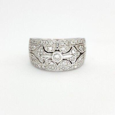 Ladies Ring 18ct (750, 18K) White Gold (0.55ct) Natural Diamond Dress Ring 2