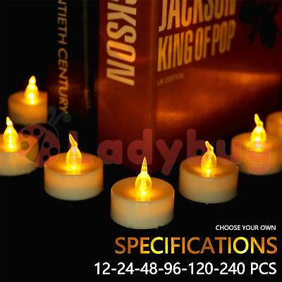 Led Tea Light Candles Tealight Flameless Wedding Battery Included White 2