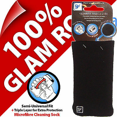Glam Rox Triple Layer Microfibre Cleaning Mobile Phone MP3 Sock Case Pouch Cover 9