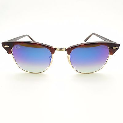e704c292e5 ... Ray Ban Clubmaster 3016 990 7Q Red Havana Gold Blue Fade Mirror New  Authentic 3