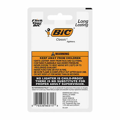 BIC Classic Lighter, Assorted Colors, 3 Packs of 5 5
